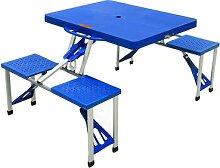 Pique-nique mallette table pliante avec mallette