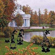 Piquet de jardin décoration père noël, signe de