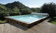 Piscine en bois rectangulaire 3,5 x 6,5 m - Linea
