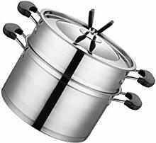 PIXNOR Acier Inoxydable Vapeur Pot avec Couvercle