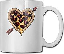Pizza Love Art Tasse À Café En Céramique Avec