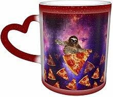 Pizza Star Galaxy magique tasse changeante de