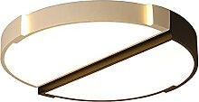 Plafond Lampe Noir Chambre Dimmable LED Moderne