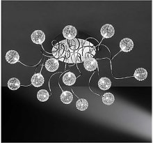Plafonnier 16 lampes boules Applique luminaire