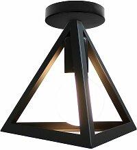 Plafonnier Abat-jour Triangle Suspension E27 pour