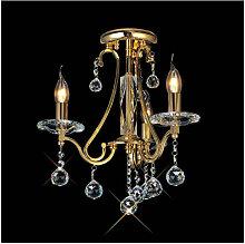 Plafonnier Bianco 3 Ampoules doré/cristal
