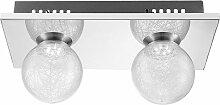 Plafonnier boule de verre plafonnier chrome lampe