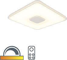 Plafonnier carré avec télécommande LED dim pour