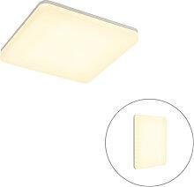 Plafonnier carré blanc avec LED, capteur