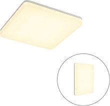 Plafonnier carré blanc avec LED et détecteur de