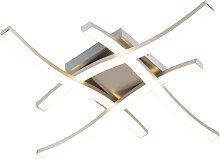 Plafonnier carré design en acier avec LED - Onda