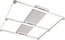 Plafonnier Carré Moderne Acier incl. LED - Plazas