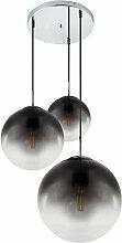 Plafonnier chromé éclairage de salon lampe boule