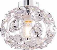 Plafonnier chrome lampe boule fleurs décor salon