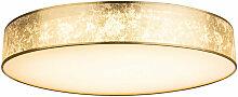 Plafonnier de luxe à LED or lumière du jour