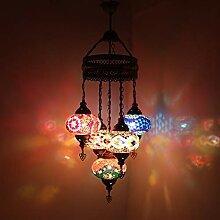 Plafonnier décoratif traditionnel multicolore