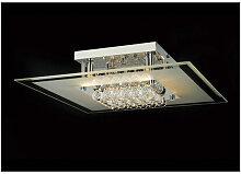 Plafonnier Delmar carré 6 Ampoules chrome