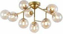 Plafonnier Design,ADN,molécule, Lustre 12 Lampes,