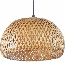 Plafonnier Design Boho tressé Talli - Bambou Bois