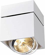 Plafonnier design carré orientable blanc