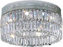 Plafonnier design en cristal PRISMA chrome 6