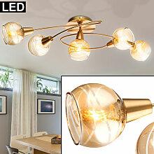 Plafonnier design LED GOLD Salon Eclairage Verre
