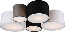 Plafonnier design multicolore 5 lumières - Sectos