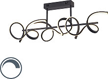Plafonnier design noir avec LED et variateur -