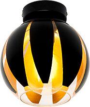 Plafonnier design noir avec or - Melone