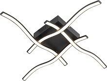 Plafonnier design noir LED incl. - Onda