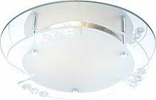 Plafonnier design salon éclairage cristal miroir