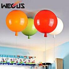 Plafonnier en ballons colorés, abat-jour en forme