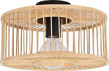 Plafonnier en bambou naturel