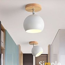 Plafonnier en bois au design nordique moderne,