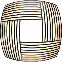 Plafonnier en bois noir 52x52cm