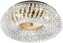 Plafonnier en cristal CARLA Or 24 Carats 3 ampoules