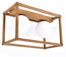 Plafonnier en métal bois
