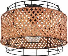 Plafonnier en métal noir rond lampe cage de salle