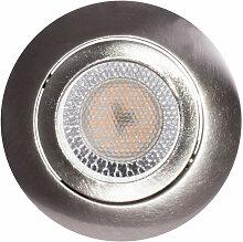 Plafonnier encastré à LED, spot argenté, salon