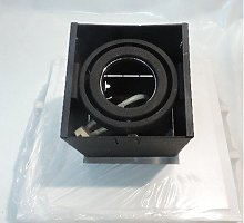 Plafonnier encastré carré noir 110X110mm pour