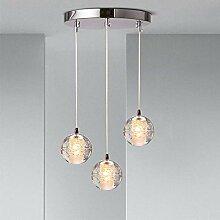 Plafonnier G4-LED lustre boule de cristal lustre,