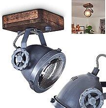 Plafonnier Herford 1 ampoule en métal et bois