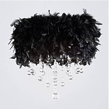 Plafonnier Ibis avec Abat jour noir en plume 3