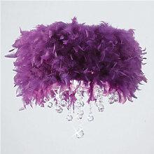 Plafonnier Ibis avec Abat jour violet en plume 3