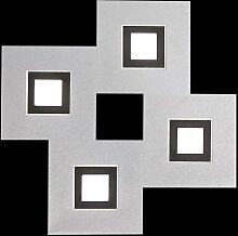 Plafonnier Karree 4 lampes carré (aluminium)