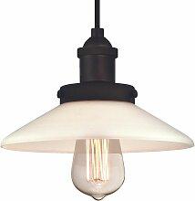 Plafonnier Lampe suspendue Abigail Bronze et Verre