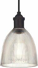 Plafonnier Lampe suspendue Vintage Bronze Huilé