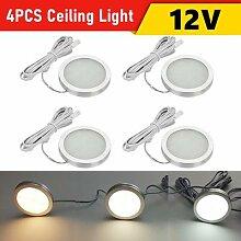 Plafonnier LED 12v pour Camping Car, 4 pièces,