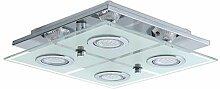 Plafonnier LED 'Cisano' carré 4x35W - Eglo