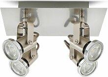Plafonnier LED 4 spots éclairage plafond design